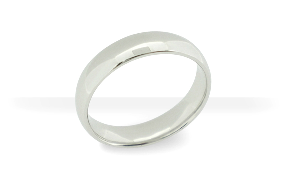 Platinum-gents-half-round-band-highly-polished